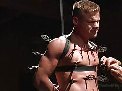 bdsm, cock torture, nipple clamps, torture, 30 minutes of torment, kink men, joseph rough