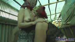 Two kinky grannies have lesbian sex