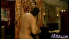 Foxy harlots get nailed in an orgy movie