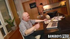 Sexy cleaner gets rid of his clothes and has his ass rimmed