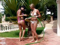 Water seduction by sapphic erotica sopping wet lesbians