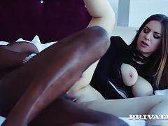 Interracial anal with babe stella cox