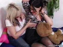 Lesbian girlfirends having an intimate and arousing moment