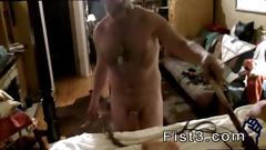 Men getting fisted then fucked and gay fisting each other piggie tim is bound with an