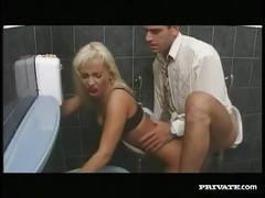 Gabriella bond, anal sex in the bathroom