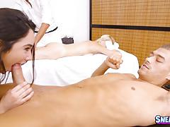 Horny masseuse karlee grey fucked deep in her minge hole