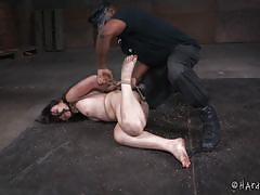 bdsm, babe, interracial, domination, dildo fuck, mouth gagged, rope bondage, electric vibrator, hard tied, jack hammerx, amy faye