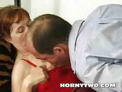 Dirty mature fuck whore greedy for cum from big white cock after fuck the pussy