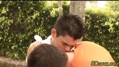 Gay teen gets cum facial feature