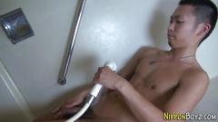 Japanese twink spunking porn