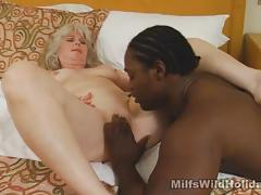 Mature amateur takes on big black cock