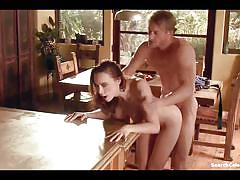 redhead, celeb, celebrity, celebrities, glasses, erotic, couple, softcore, blowjob, sexy, pussy licking, tattooed, porn star, fake tits, shaved pussy, pussy rubbing, fuck from behind, chanel preston, kissing boobs, in kitchen