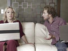 blonde, handjob, babe, deepthroat, big dick, cock riding, sweet sinner, lily labeau, michael vegas