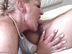 Stepmom licks ass and pussy of young daughter