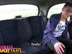 Female fake taxi busty czech driver gets a big cock