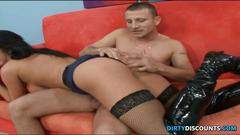 Busty titfucked ladycop jizzed on oiled tits