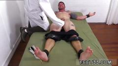 Bay gay twink toes clint gets naked tickle treatment