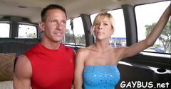Wild cock riding inside a car video segment 1