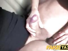 Faketaxi passenger wants drivers big cock