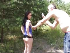 Myfirstpublic - huge creampie for cheated photo model in nature with big cock