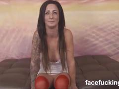 Sad whore marissa jean throat fucked and rammed in the ass by 3 dudes