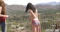Cute teens in a casting session segment feature 1