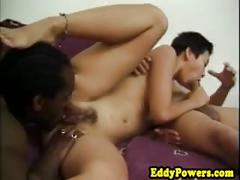 Classic porn sextape of interracial group fun