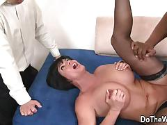Horny wife shay fox takes large black cock