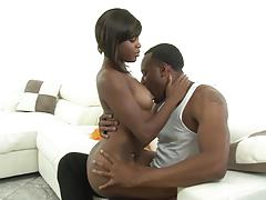 Kinky cute black cheerleader karma may fucked in her sexy pussyhole
