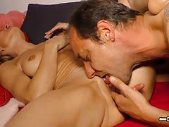 Hard fucking with horny german housewife