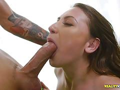 Sexy oiled up ivy rose thrashed in her minge hole