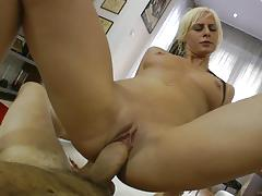 rocco siffredi, blowjob, riding, doggystyle, cumshot, blonde, reverse cowgirl, natural, camera, pov, sucking