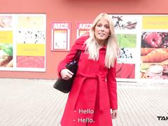 Takevan - blondie rocks after shopping take quick fuck and home to husband