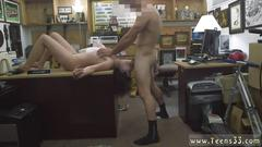 Dark haired milf babe gets down to suck a meat pole
