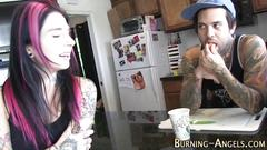 Pierced slut pov sucks