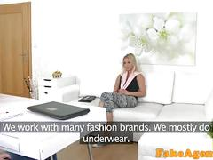 Fakeagent hot skinny model in red panties gets fucked by her agent