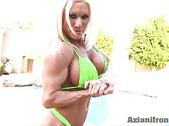 Hot bulky babe could kick your ass