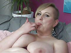 blonde, mature, solo, masturbation, big boobs, dildo, bbw, rubbing clit, pussy to mouth, mature nl, silana