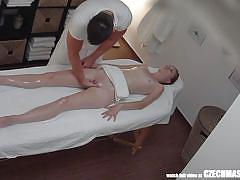 Redhead czech gets fucked and gets a massage