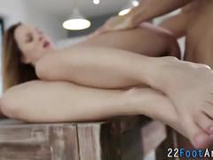 Fetish sluts feet cumshot