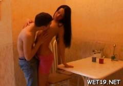 Lewd and salacious pleasuring amateur clip 1