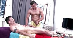 Steamy hot gay massage blowjob movie 1