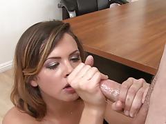 keisha grey, brunette, blowjob, facial, sucking