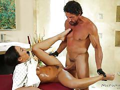 massage, babe, oiled, brunette, missionary, masseur, pussy fingering, bearded guy, licking feet, nuru massage, nuru network, tommy gunn, amara romani