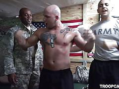 wrestling, deepthroat, orgy, army, military, soldiers, tattooed, troop candy