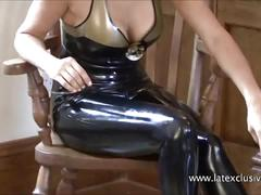 babe, brunette, solo, latex, posing, fetish, heels, softcore, tight, beauty, naughty, and, high, wear, rubber, latex-outfit