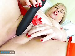 Europemature sexy chubby granny solo masturbation