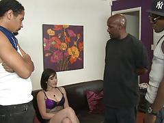 Interracial fuck and facial for kinky jennifer white