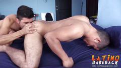 Horny big dick latin thugs barebacking and cumming hard