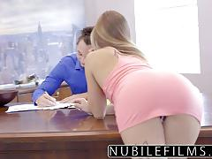 Cock riding assistant sydney cole fucking her boss